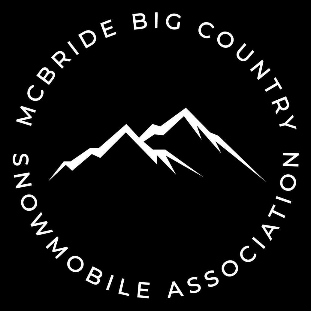 McBride Big Country Snowmobile Association Logo - Black